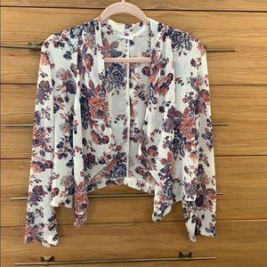 Floral lightweight blazer/ jacket